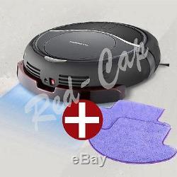 NEW MONEUAL Robot vacuum cleaner Wet/Dry Mop MR6803M Smart Sensor GRAY + 2Pad E