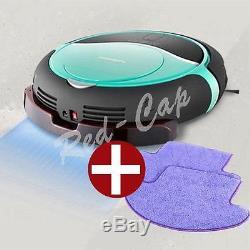 NEW MONEUAL Robot vacuum cleaner Wet/Dry Mop MR6803M Smart Sensor MINT + 2Pads E