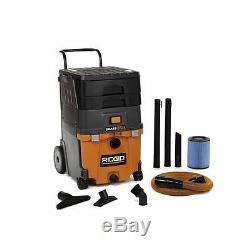 New 11 gal. 6.5-Peak HP Smart Cart Wet Dry Vac Vacuum Cleaner Smart Cart Vacuum