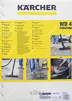 New & Sealed Kärcher WD4 PREMIUM WET & DRY VACUUM CLEANER