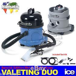 Numatic Car Valeting Duo Wet & Dry Vacuum Cleaner Machine Equipment Starter Pack