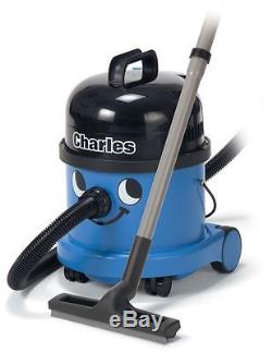 Numatic Charles Bagged Wet Dry 3in1 Cylinder Vacuum Cleaner 1000W A21A Kit, Blue