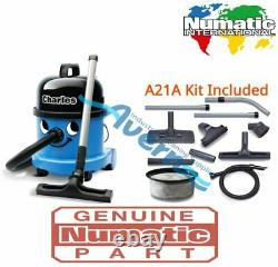 Numatic Charles CVC370-2 Vacuum Cleaner Hoover Wet & Dry 3 in 1 Blue A21A Kit