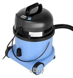 Numatic Charles CVC370 Bagged Wet & Dry Cleaner 1200W 15 Litre Blue
