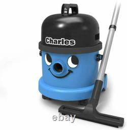 Numatic Charles CVC 370-2 Wet and Dry Bag Cylinder Vacuum Cleaner Blue