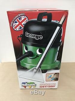 Numatic GVE370-2 George Wet & Dry Bagged Vacuum Cleaner in Green