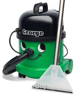 Numatic George GVE370-2 Vacuum Carpet Cleaner Hoover Wet & Dry Green A26A Kit