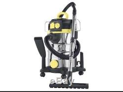 Parkside 30 Litre 1500W Wet and Dry Vacuum Cleaner Pnts C4 UK 3 Plugs