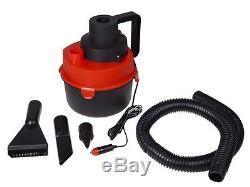 Portable 12V Wet & Dry Canister Car Vacuum Cleaner Hose Inflation Pump DC Plug