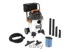 Portable Stainless Steel 16 Gal Wet/Dry Blower Shop Vacuum Cleaner 6.5 Peak HP