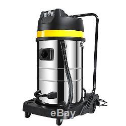 Powerful 3000W Wet Dry Vacuum Cleaner Industrial Shop Vac Stainless Steel 80L