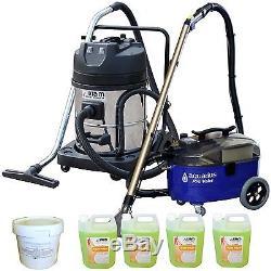 Pro Valet Carpet Upholstery Cleaner & KV60-2 Wet Dry Vacuum & Powder Detergent