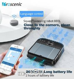 Proscenic 880L Alexa Vacuum Cleaner Robot 2KPa Dry Wet Mopping mapping Navigatio