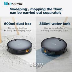 Proscenic Robotic Vacuum Cleaner Carpet Floor Dry Wet Mopping Auto Rechargable