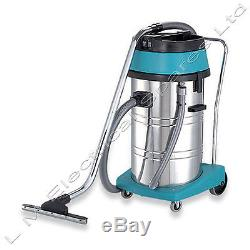 Qualtex 80L Wet & Dry Tub Vacuum Cleaner Industrial Stainless Steel Hoover 2000W