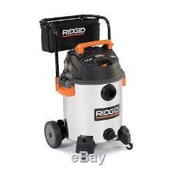 RIDGID 16-gal Wet Dry Vac Vacuum Cleaner 6.5 HP Stainless Steel Portable Blower