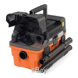 RIDGID 4.5 Gal (5 HP) Heavy Duty Compact Pro Wet Dry Cleaner Suction Shop Vacuum