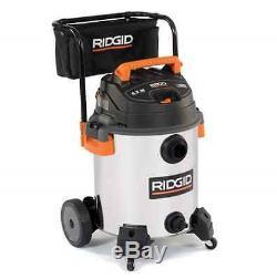 Ridgid 16-Gal Shop Vacuum Wet Dry Vac Stainless Steel Wheels Cleaner Blower Car