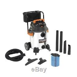 Ridgid 16-Gal Wet Dry Vac Stainless Steel Heavy Duty Portable Vacuum Cleaner NEW