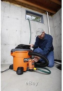 Ridgid Pump For Wet/Dry Vacuum Cleaner Drain Water Removal Attachment Shop Vac