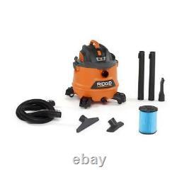 Rigid 14 Gallon 6.0 HP Wet Dry Shop Vacuum Cleaner Dust Filter Portable Vac New