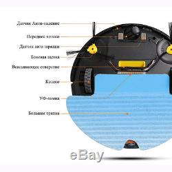 Robot Vacuum Cleaner With Water Tank Wet & Dry Touchscreen Big Mop Schedule New
