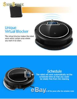 Robot Vacuum Cleaner with Water Tank Wet Dry TouchScreen Big Mop Schedule 2000mA