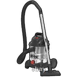 SEALEY Vacuum Cleaner Industrial Wet & Dry 20ltr 1250W 230V 240V Stainless Steel