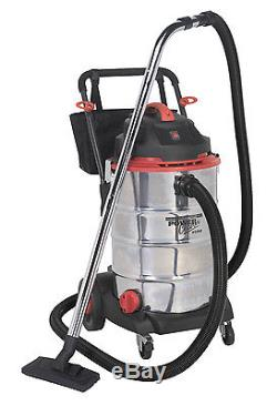SEALEY Vacuum Cleaner Wet & Dry 60ltr Stainless Drum 1600With230V PC460