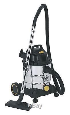Sealey PC200SD110V Vacuum Cleaner Industrial Wet & Dry 20ltr 110V Stainless Drum