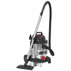 Sealey PC200SD Vacuum Cleaner Industrial Wet & Dry 20ltr 1250With230V