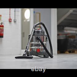Sealey PC200SD Vacuum Cleaner Industrial Wet & Dry 20ltr 1250With230V Stainless Dr