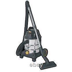 Sealey Vacuum Cleaner Builder Construction Wet & Dry 20ltr 1250W / 110V Steel