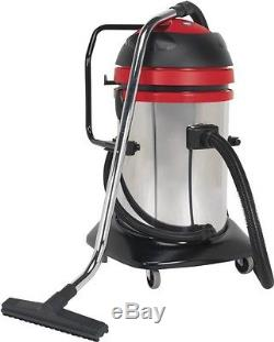 Sealey Vacuum Cleaner Industrial Wet & Dry Twin Motor 75L Drum 1200/2400W