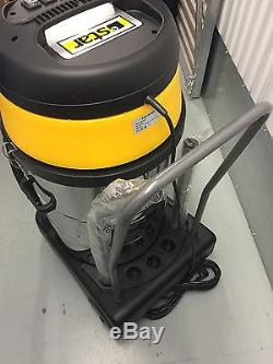 Star602P WET/DRY Industrial vacuum cleaner 80L 2 X Power Twinflo Motor 2400W