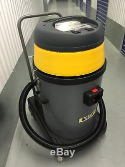 Star602P WET/DRY Industrial vacuum cleaner 80L 2 X Power Twinflo Motor CarWash