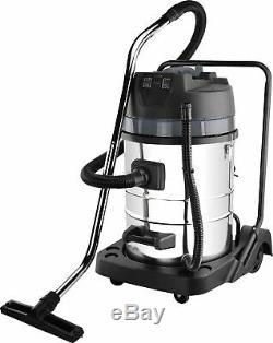 SwitZer Industrial Vacuum Cleaner 20/80L 1.2/3KW Hoover Steel Tank Wet and Dry