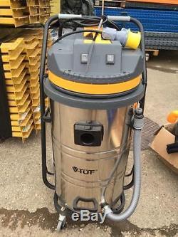 V-TUF VT9110 Twin Motor Industrial Wet & Dry Vacuum Cleaner MISSING 1 CASTOR
