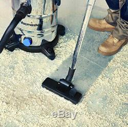 Vacmaster Wet and Dry Vacuum Cleaner Powerful 1500W Vac 30L