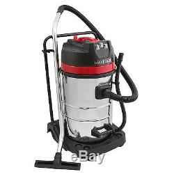 Vacuum Cleaner Wet & Dry Industrial Extra Power StainlessSteel 80L Hoover A2435