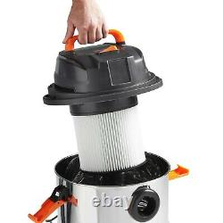 VonHaus Wet and Dry Vacuum Cleaner 1250W 30L Bagless Vac with Blower Function