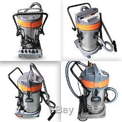 Wet Dry Vacuum Cleaner 80l Vac Industrial 3000w Stainless Steel Blow Function