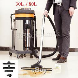 WET & DRY VACUUM VAC CLEANER INDUSTRIAL 30L 80 LITRE Commercial Powerful UK