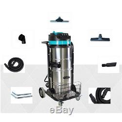 WOO 220V Industrial Vacuum Cleaner Wet Dry 90L VAC Blower Stainless Steel 3000W
