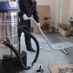 WOO New 110V 2400W 100L VAC Industrial Vacuum Cleaner Wet Dry Dual Motor Blower