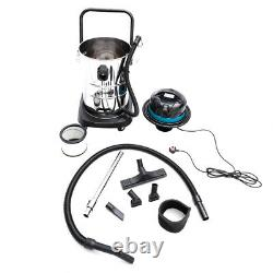 Wet And Dry Vac Vacuum Cleaner Industrial 50l Litre 1200w Carwash Hoover Garage