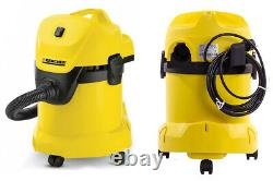 Wet And Dry Vacuum Cleaner Blower Stainless Steel Industrial Garage 17ltr 1400W