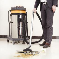 Wet And Dry Vacuum VAC Cleaner Industrial 30L 1500w 80L 3600w Stainless Steel