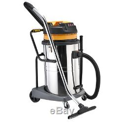Wet And Dry Vacuum Vac Cleaner Industrial 80ltr 3600w Stainless Steel