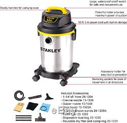 Wet Dry Vac Shop Vacuum 4 Gallon 4HP Cleaner S Steel Portable 8 Accessories